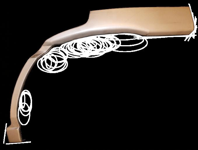 Reperaturka błotnika tylnego NISSAN TERRANO II 93-04 - medium